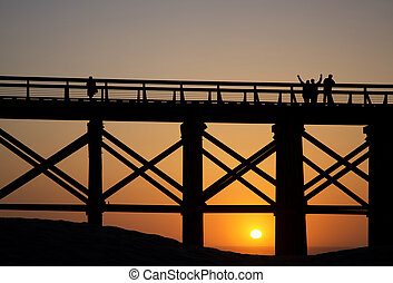 Pudding Creek Trestle Bridge at Fort Bragg, California -...
