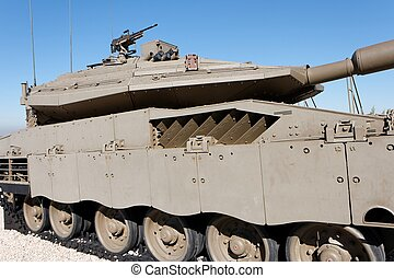 New Israeli tank in Latrun Armored Corps museum