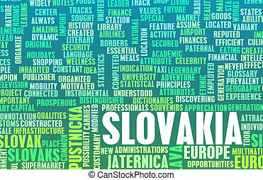 Slovakia as a Country Abstract Art Concept