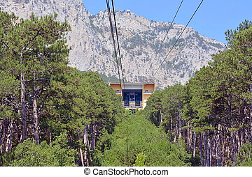 Cable car to Ai-Petri summit, Crimea peninsula