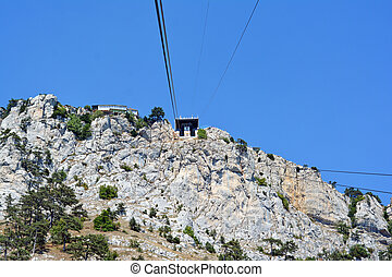 Cable car to Ai-Petri summit - the cable car station on the...