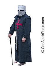 the figure of a knight with a sword - Templar knight...