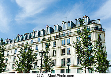 Typical generic houses in Paris France