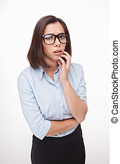picture of a beautiful business woman - The picture of a...