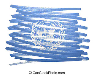Flag illustration - United Nations - Flag illustration made...