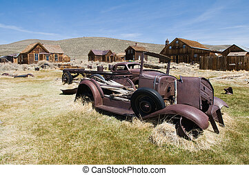 Old cars - Abandoned vehicles, Bodie State Historic Park,...