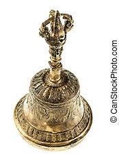 Buddhist bronze hand bell - a bronze buddhist hand bell...