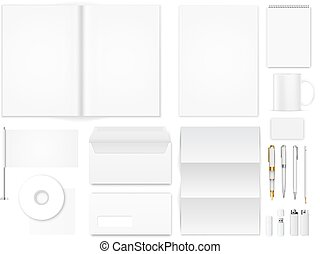 Office supply - Vector template for identity presentation,...