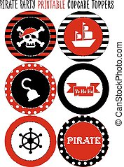 Party set printable. Pirate theme party - Party set...
