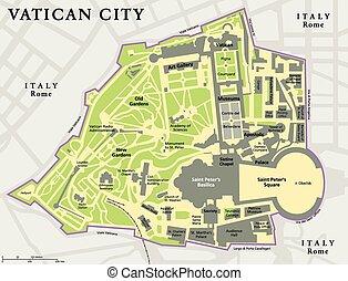 Vatican City Political Map - Vatican city political map....