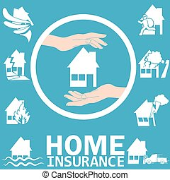 Home insurance in vector style