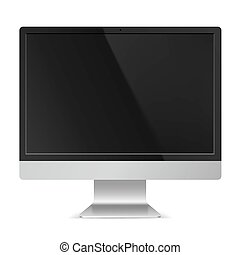 Computer Monitor - Full HD Computer Monitor with Empty Black...