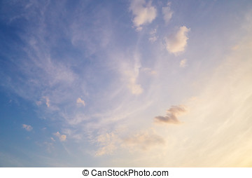 Cirrus clouds in sky Nature background