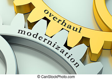Overhaul Modernization concept on the gearwheels