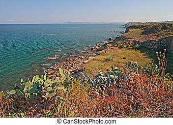 coast of the Adriatic sea in Abruzzo, Italy - Mediterranean...