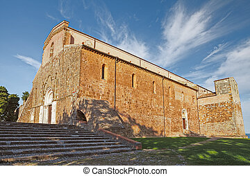 The Abbey of San Giovanni in Venere in Fossacesia, Abruzzo,...