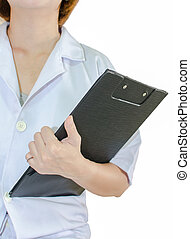 Doctor holding document  - Doctor holding a document file