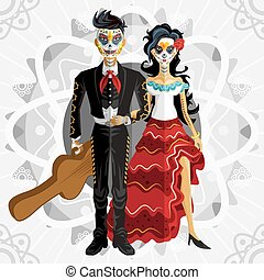 Dia De Los Muertos Day Of The Dead - Bride Wedding Of...