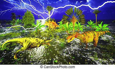 Dinosaurio, día del juicio final,