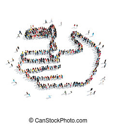 people shape hand injury cartoon - A group of people in the...