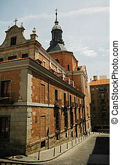 historical building in madrid with sky with cloud