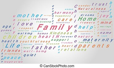 Vector family words