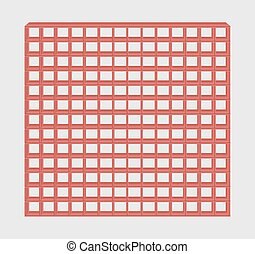 red jail bars - many red jail bars on gray background
