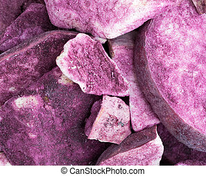 Close view of Maqui powdered freeze dried apple slices - A...