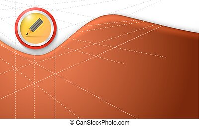 Vector colored abstract background and pencil symbol