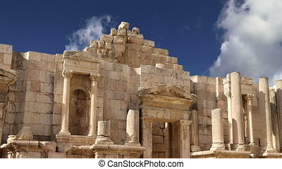 Roman ruins in the Jerash - Roman ruins in the Jordanian...