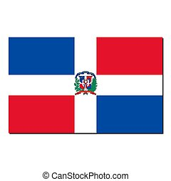 The national flag of Dominican Republic