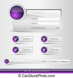 Login Template - Set of member login template with buttons...