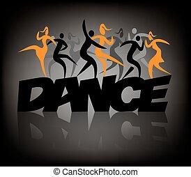 Word dance wih dancers