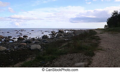 Baltic Sea coast beach Kurzeme Roja - DSLR Full HD...