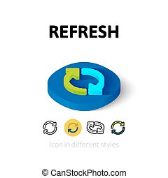 Refresh icon in different style