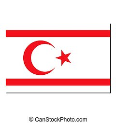 The national flag of Turkish Republic Northern Cyprus - with...