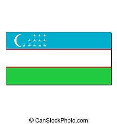 The national flag of Uzbekistan
