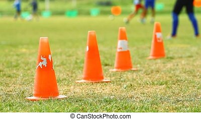 Chips on the soccer field and training children