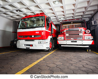 Fire Engines In Station