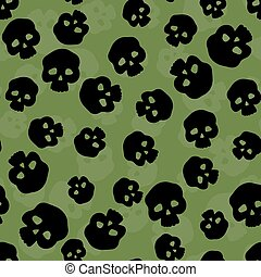 Skulls - Seamless pattern with stylized human skulls...