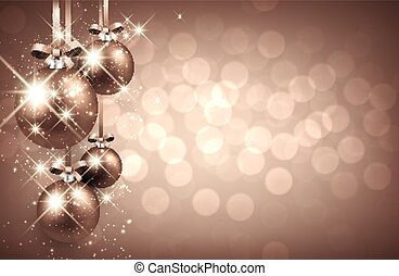 New Year background. - New Year background with balls.