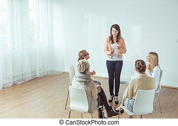 Coaching for young women - Vertical view of coaching for...