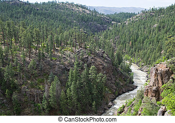 Animas River - The Animas River winding through the...