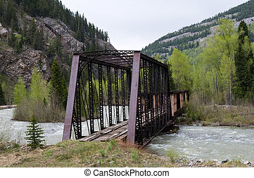 Railway bridge - Disused railway bridge over the Animas...