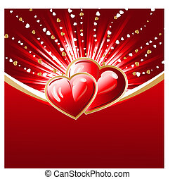 abstract hearts burst background