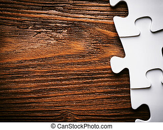 Placing missing a piece of puzzle. business concept.