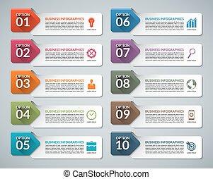 Infographic design template set
