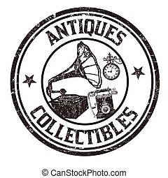 Antiques and collectibles stamp - Antiques and collectibles...