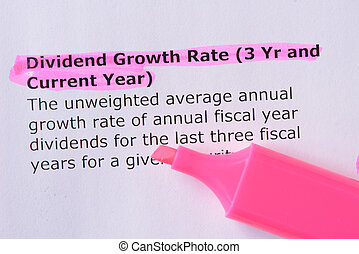 Dividend Growth Rate (3 Yr and Current Year) words...