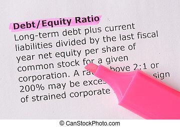 debt/equity, proporción